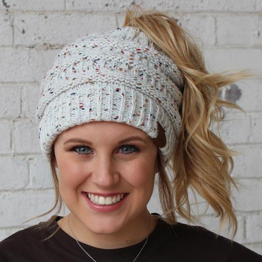 Ivory Speckled Beanie