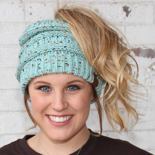 Mint Speckled Beanie