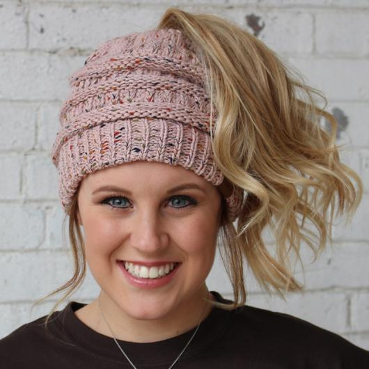 Rose Speckled Beanie