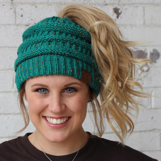 Sea Green Speckled Beanie