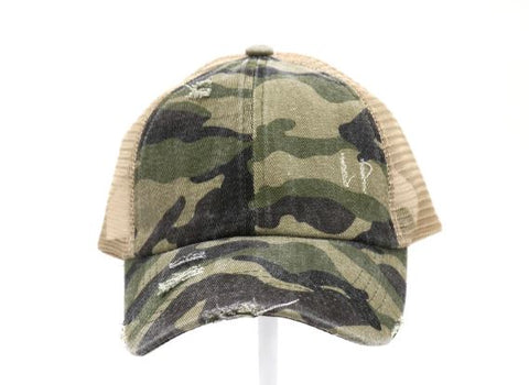C.C CAMO CRISS-CROSS BALL CAP