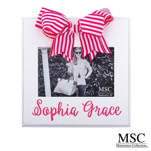 PINK STRIPE RIBBON FRAME by MSC