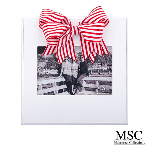 RED STRIPE RIBBON FRAME