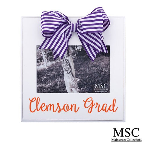 PURPLE STRIPE RIBBON FRAME by MSC