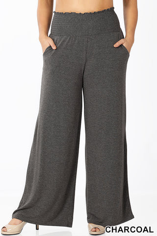 PLUS SMOCKED WAISTBAND LOUNGE PANTS