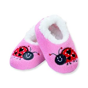 SNOOZIES LADYBUG INDOOR SLIPPERS / INFANT / TODDLER / LITTLE KIDS