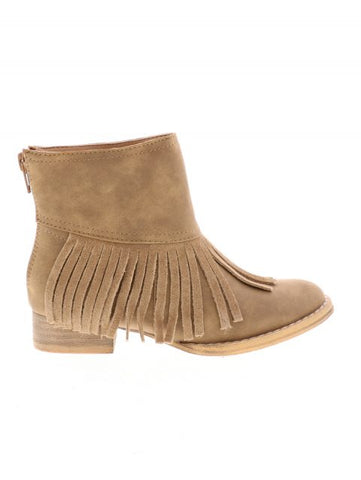 SIDE VIEW VOLATILE BARKLEY GIRLS BOOT IN TAN
