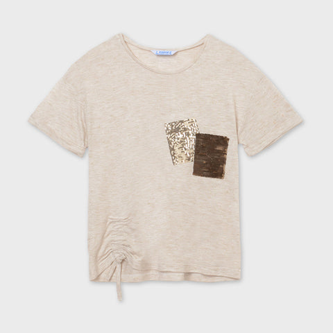Girl sequin pockets t-shirt - Mayoral