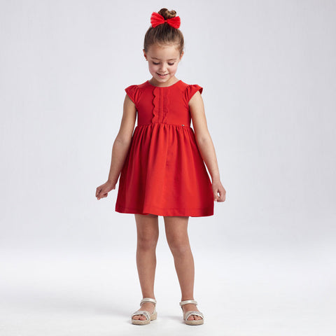 PERSIMMON RUFFLED DRESS