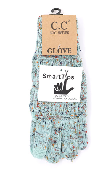 Speckled Mint Gloves
