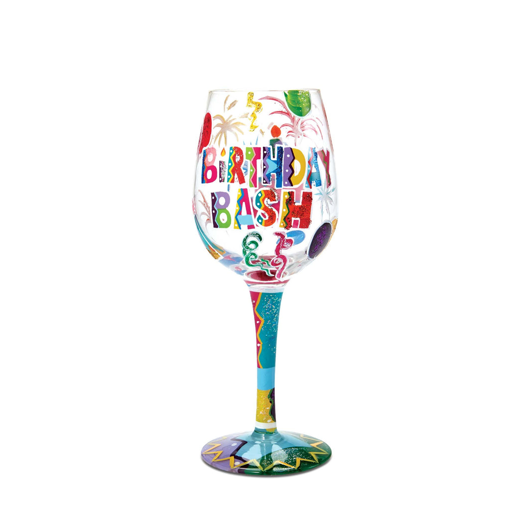 Birthday Bash Wine Glass by Lolita