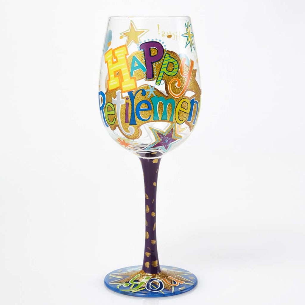 Happy Retirement Wine Glass by Lolita
