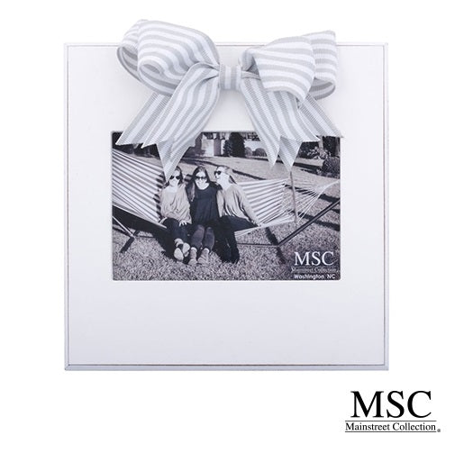 GRAY STRIPE RIBBON FRAME by MSC