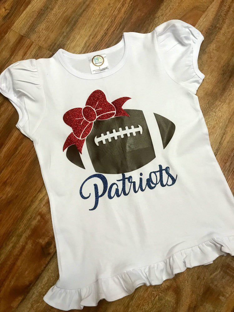 Patriots Glitter Football Boutique Shirt