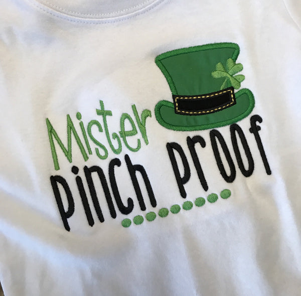 Mister Pinch Proof Boys Appliquéd Tee