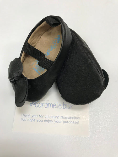 Black Infant Crib Shoes by Caramelle Blu