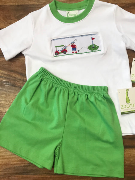 Smocked Golf Car Knit Shirt by Zuccini Kids