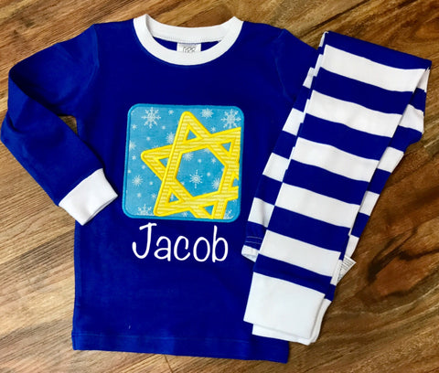 Star of David Hanukkah Pajamas for Kids