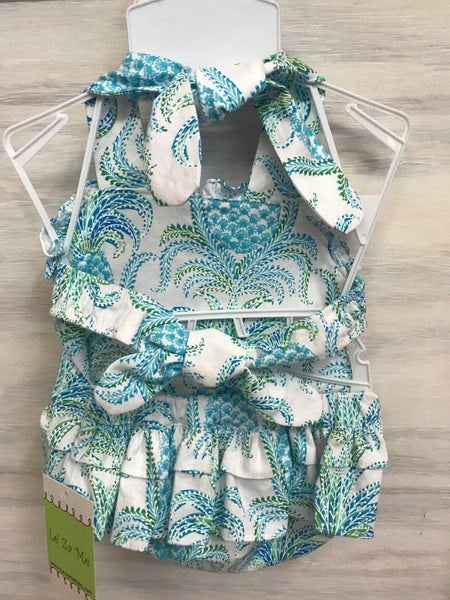 Linda pineapple Swimsuit/Sunsuit by Le' Za Me