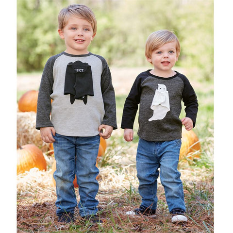 MUDPIE OPEN ARMS BOYS HALLOWEEN TSHIRT