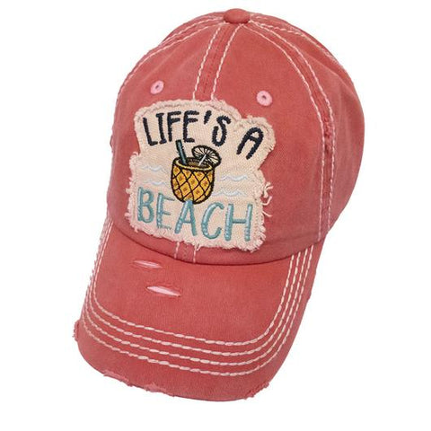LIFE'S A BEACH BALL CAP