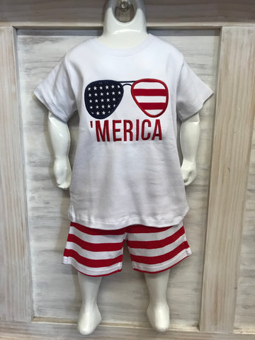 Boys 'MERICA Appliquéd Shirt
