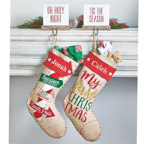MUDPIE MONOGRAM ME STOCKINGS