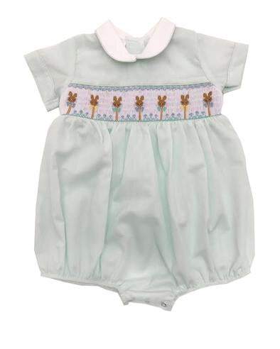 Mint Bunny Baby Boy Bubble by Lulu Bebe