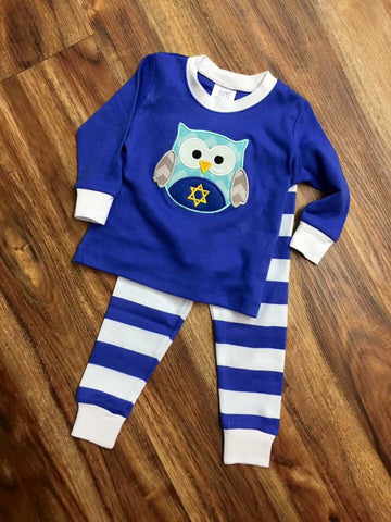 Hanukkah Owl Pajamas for Boys and Girls