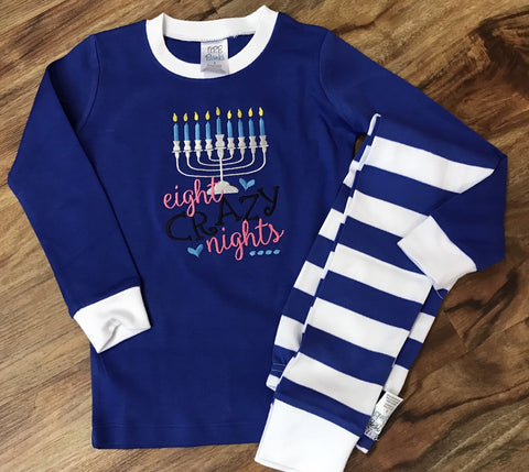 Adult Hanukkah pajamas Menorah