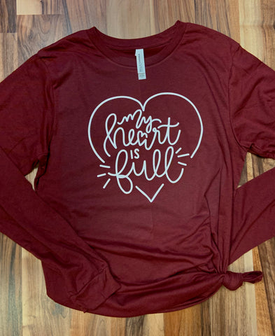 My Heart is Full Long Sleeve Tee