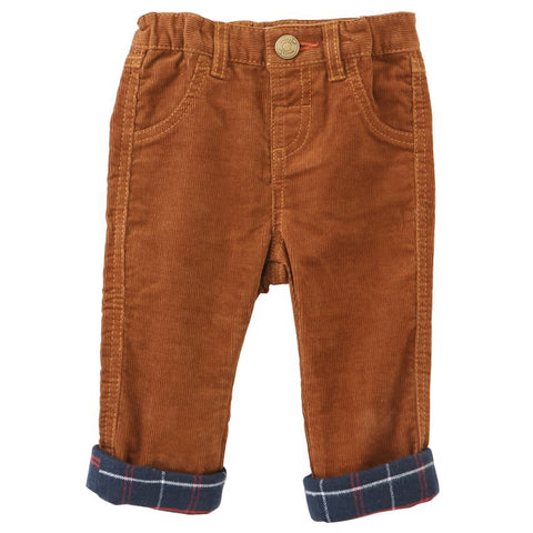 brown corduroy cuff pants
