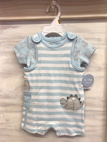 Dinosaur 2pc Shortall Set by Le Top