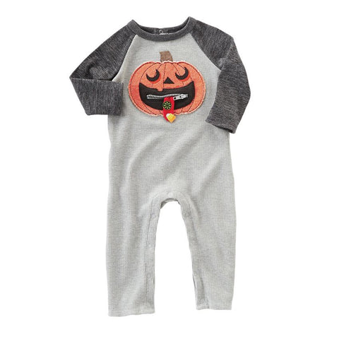 Zipper Mouth Pumpkin Outfit Infant - Mudpie