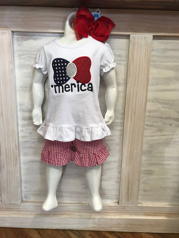 Girls 'MERICA Appliquéd Shirt