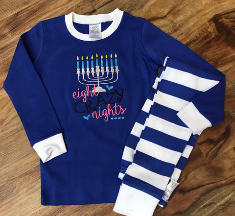 Eight Crazy Nights Menorah Pajamas