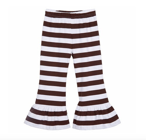 Girls Striped Ruffle Pants