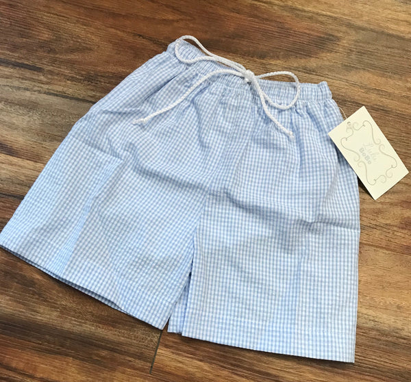 Jack Light Blue Seersucker Swim Trunks