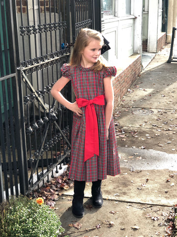 Christmas Plaid Natalie Dress by LeZaMe