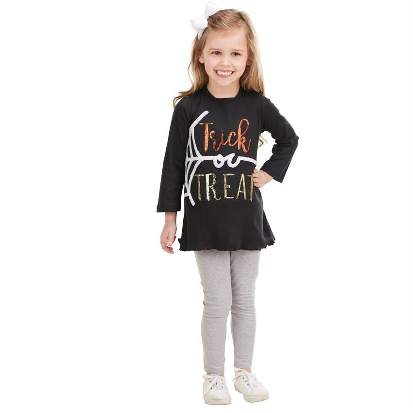 MUDPIE HALLOWEEN DAZZLE TEE IN BLACK