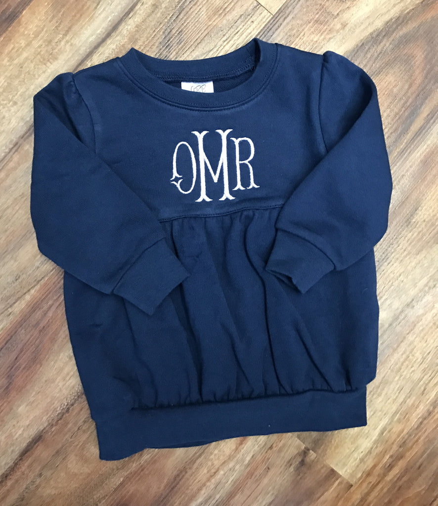Navy Bubble Sweatshirt