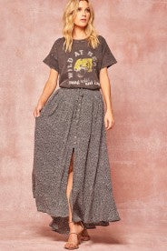 ANIMAL PRINT MAXIE SKIRT - PROMESA