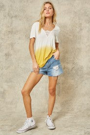 TIE DIE SHIRT WITH LACE - PROMESA