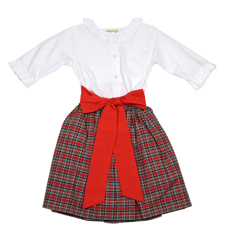 Christmas Plaid Girls Skirt Set by LeZaMe