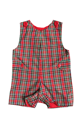 christmas plaid shortall