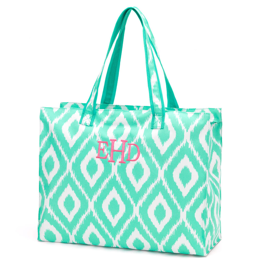 BEACH BAG MINT IKAT