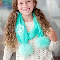VIV&LOU BELLA SCARF WITH POMS