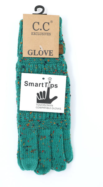 Speckled Sea Green Gloves