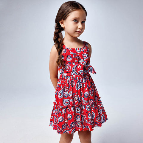 Paisley Strap printed dress girl