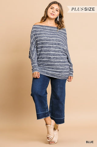 KNIT LONG DOLMAN TOP